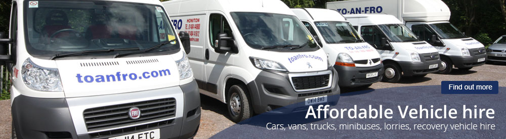 Honiton vehicle hire